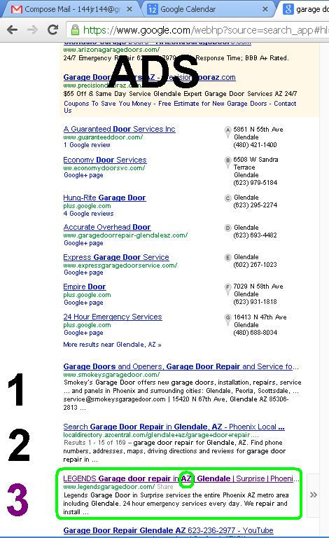 google garage door repair glendale az