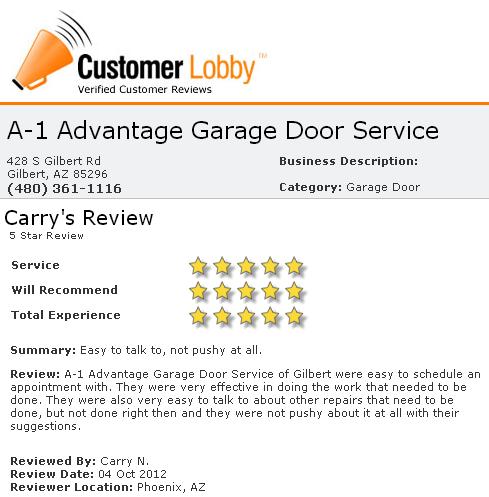 Garage door repair parts in chandler mesa gilbert for Garage door repair in gilbert az